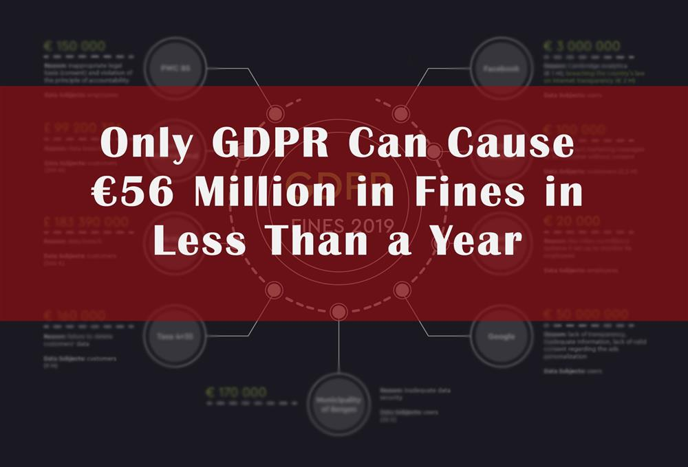 Only GDPR Can Cause €56 Million in Fines in Less than a Year