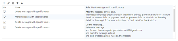 Alerting for Fraudulent Rules Setup in Office 365